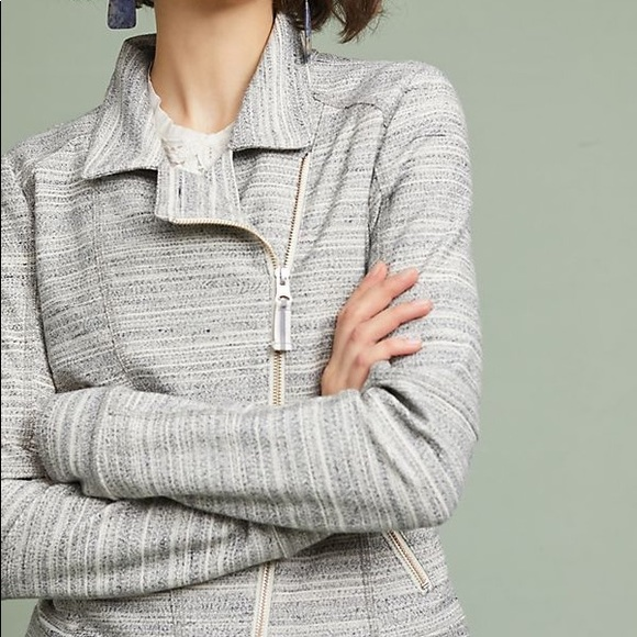 Anthropologie Sweaters - Anthropologie Caitlin Knit Moto Jacket